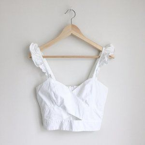 H&M wrap crop with ruffles - size 6